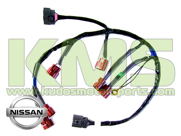 Genuine Nissan Wiring Harness Loom Coil Pack 24079 24U10 Nissan Skyline R33 GTR Stagea WGNC34 260RS RB26DETT kudos motorsports japanese performance & servicing parts specialist Coil Pack Replacement at fashall.co