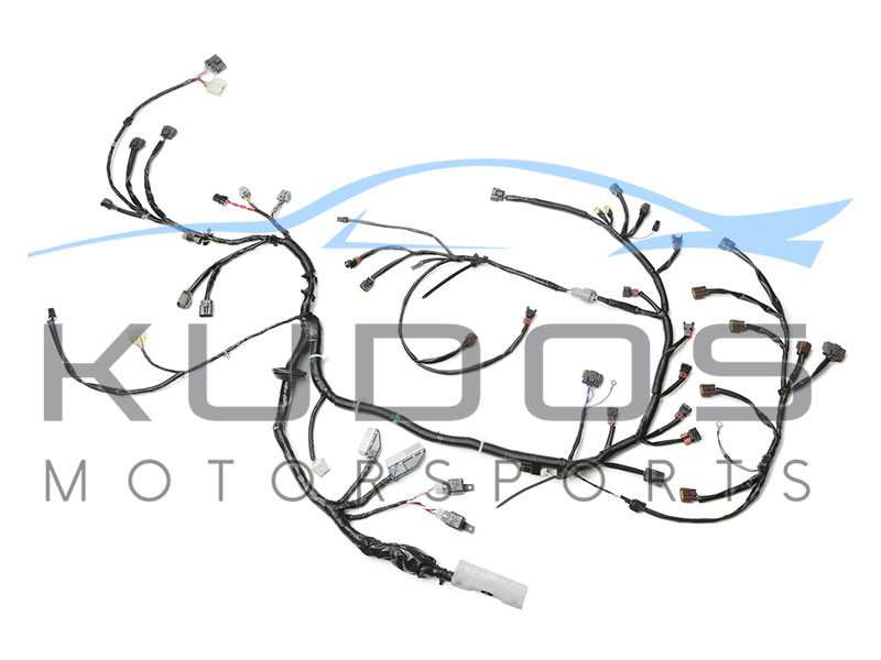 kudos motorsports ese performance servicing parts specialist wiring specialties engine wiring harness to suit nissan skyline r33 gt r series 1 2 rb26dett 01 1995 02 1997