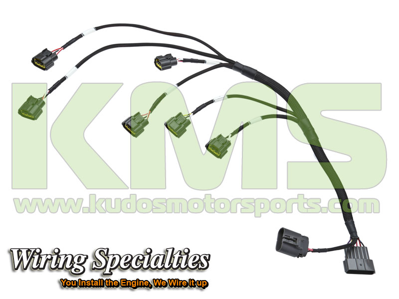 Wiring Specialties Coil Pack Harness Smart WRS R34COIL RB26 R32 Nissan Skyline R32 GTR RB26DETT kudos motorsports japanese performance & servicing parts specialist r32 gtr wiring harness at crackthecode.co
