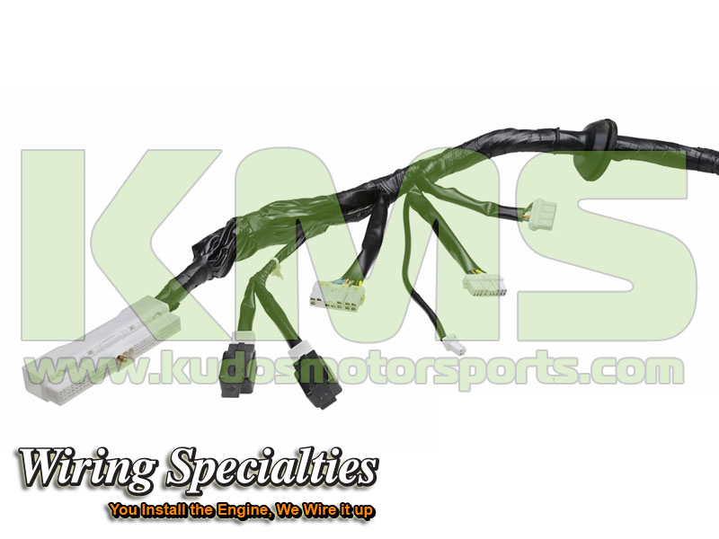 Wiring Specialties Engine Harness WRS RB26R32 MAIN Nissan Skyline R32 GTR RB26DETT_1 kudos motorsports japanese performance & servicing parts specialist r32 gtr wiring harness at crackthecode.co