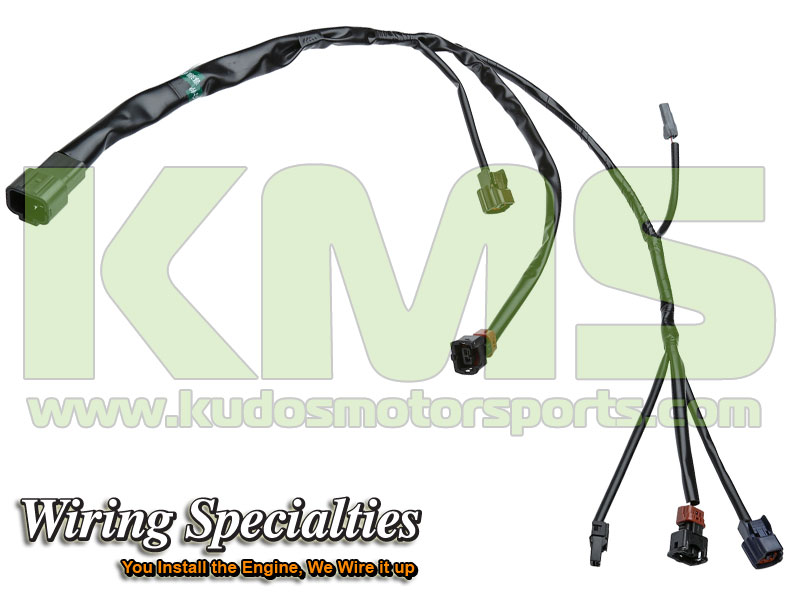 Wiring Specialties Knock Sensor Harness OEM Series WRS RB26R32 KNK Nissan Skyline R32 GTR kudos motorsports japanese performance & servicing parts specialist r32 gtr wiring harness at crackthecode.co