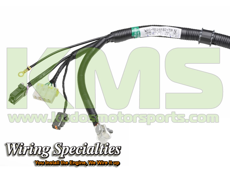 Wiring Specialties Transmission Harness WRS RB26R32 TRN Nissan Skyline R32 GTR RB26DETT_0 kudos motorsports japanese performance & servicing parts specialist r32 gtr wiring harness at crackthecode.co